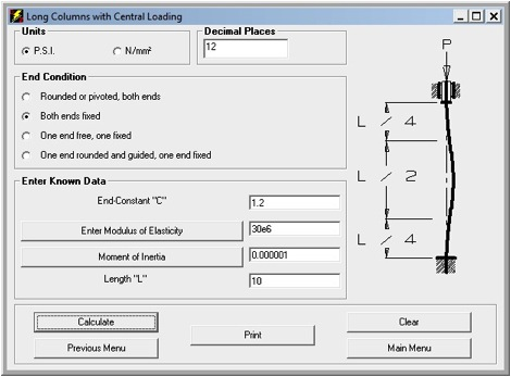 Critical Load for Long Column Buckling - DZynSource Mold Engineering